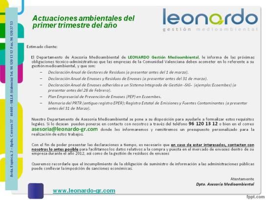acciones ambientales 1-T 2013